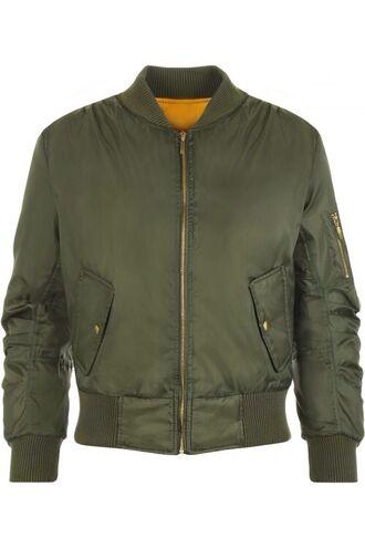 jacket bomber jacket green orange khaki khaki bomber jacket wearall.com padded bomber jacket green army green jacket