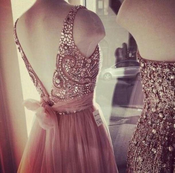 dress prom dress prom gown sparkly dress ball gown dress formal dress formal party dresses toule beading prom dress low back prom dress