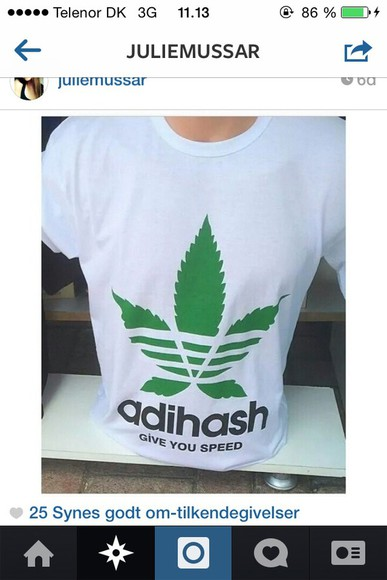 adidas t-shirt adihash hash green give you speed