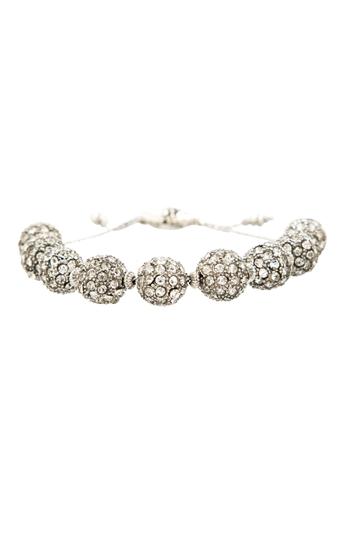 Silver Pave Ball Bracelet