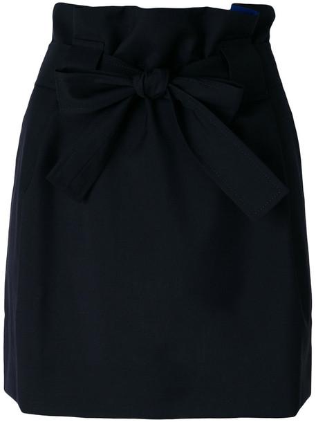 maison kitsune skirt bow women cotton black wool
