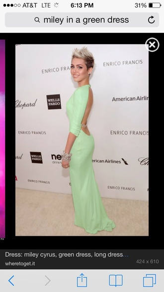 dress mint miley cyrus maxi dress gown long dress classy