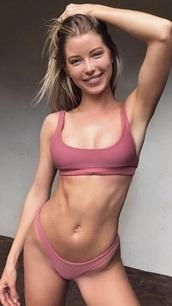 swimwear,dusty pink,dustyrose