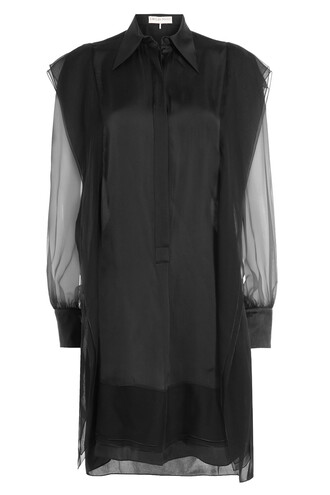 dress silk dress silk black
