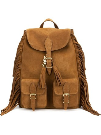 backpack brown bag