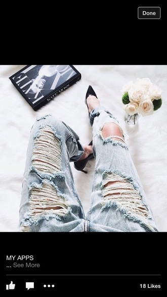 jeans ripped alina ceusan blue jeans shoes