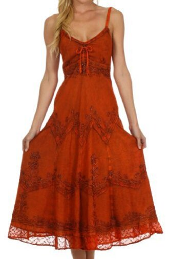 dress boho maxi red lace gypsy bohemian