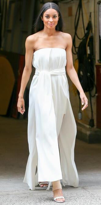 dress strapless maxi dress white white dress ciara
