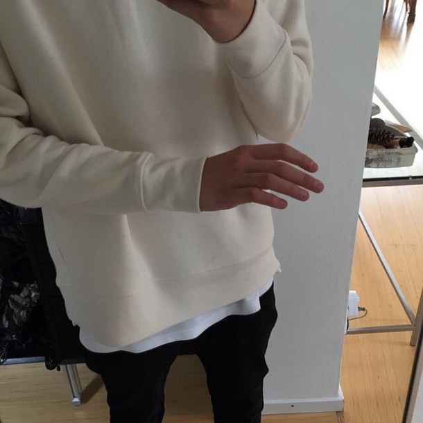 sweater cream sweater sweat creme beige jumper oversized dress menswear mens sweater white sweater
