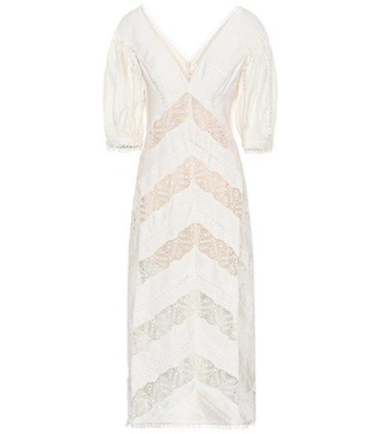 Zimmermann dress midi dress midi white