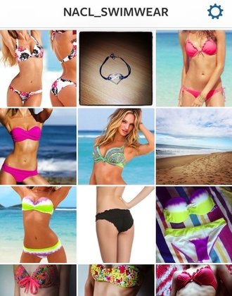 swimwear bikini floral swimwear patterned bikini bottoms sexy pretty cute comfy bracelets bathers colourful
