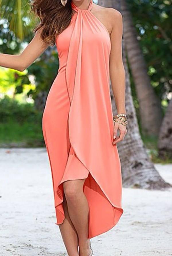 Dress Pastel Colors Peach Dress Cute Dress Cute Top Cute Shirt Style Fashion Summer