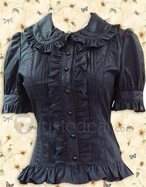 blouse lolita black