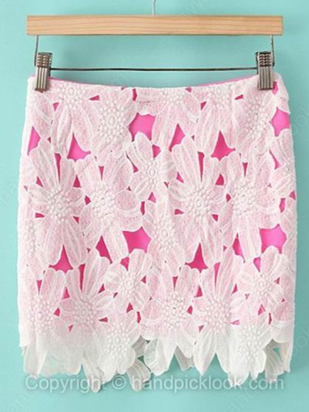 skirt pink lace pink skirt lace skirt fuschia bodycon skirt hot pink hot pink skirt white lace white lace skirt