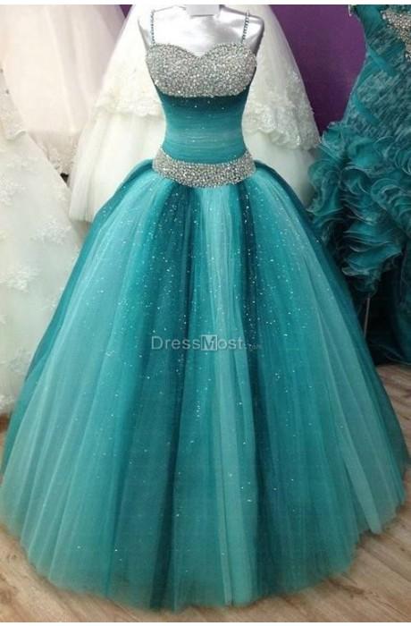 Line organza prom dress