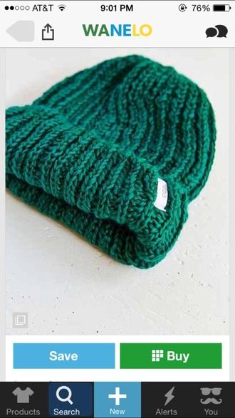 hair accessories forest green beanie knitwear