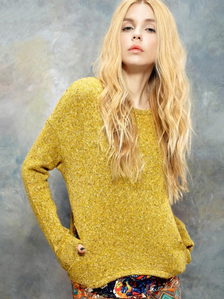Женские Пуловеры Из Меланжевой Пряжи Доставка