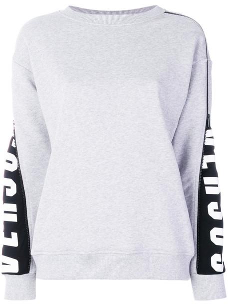 Versus sweatshirt women cotton grey sweater