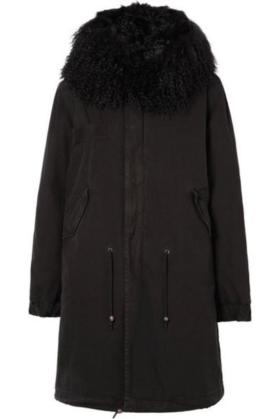 parka cotton black coat