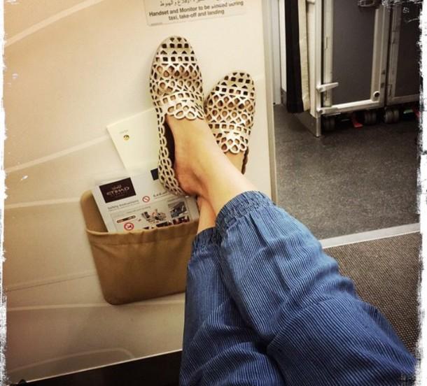shoes gold shoes flats flats