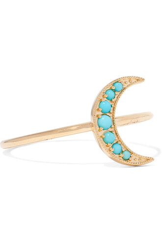 mini ring gold turquoise jewels