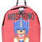 Moschino - transformer teddy backpack - women - pvc - one size, red, pvc