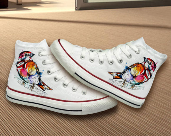 gift girly unique girl shoes converse best gift birthday gift girlfriend gift gifts bestgifts woman woman shoes bird birds love birds pink black skirt bird