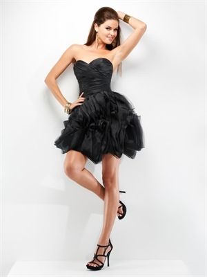 Black sweetheart mini short prom dress 2013 apr110021