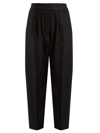 high wool black pants