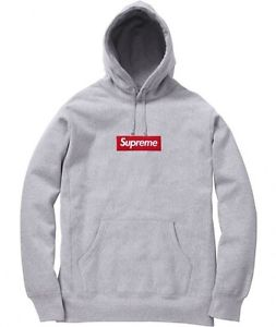 Supreme F w 2013 Box Logo Pullover Hoodie Large Heather Grey in Hand | eBay