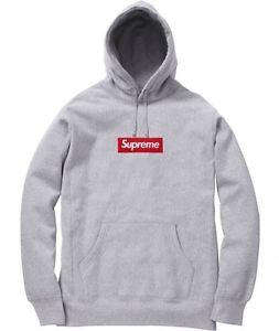 Supreme F w 2013 Box Logo Pullover Hoodie Large Heather Grey in Hand | eBay
