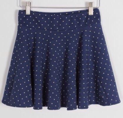 Sale! polka dot mini skater skirt
