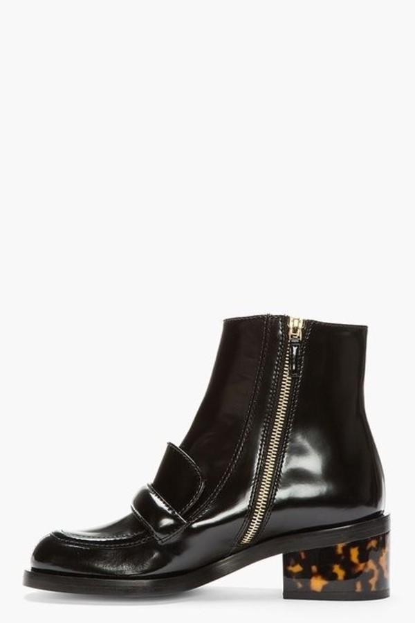 shoes stella mccartney black platform shoes shoes black grunge flat zip heels zip closure shoes boots winter boots ankle boots vintage boots sparkly shoes zip up back