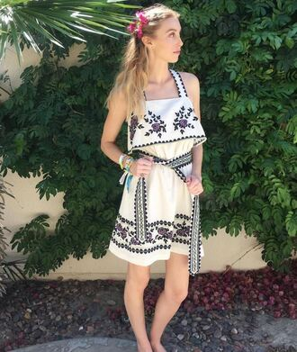 dress summer summer dress whitney port blogger coachella festival music festival instagram boho dress