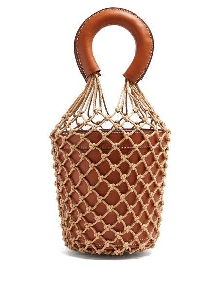 Staud bag bucket bag leather brown