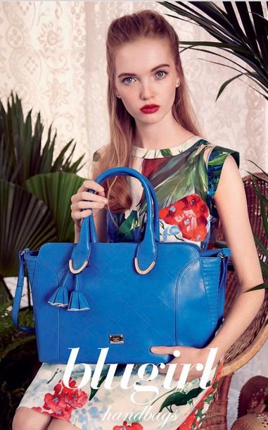 bag bluegirl blue bag