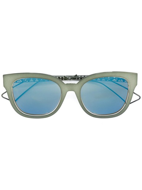 Dior Eyewear metal women sunglasses green