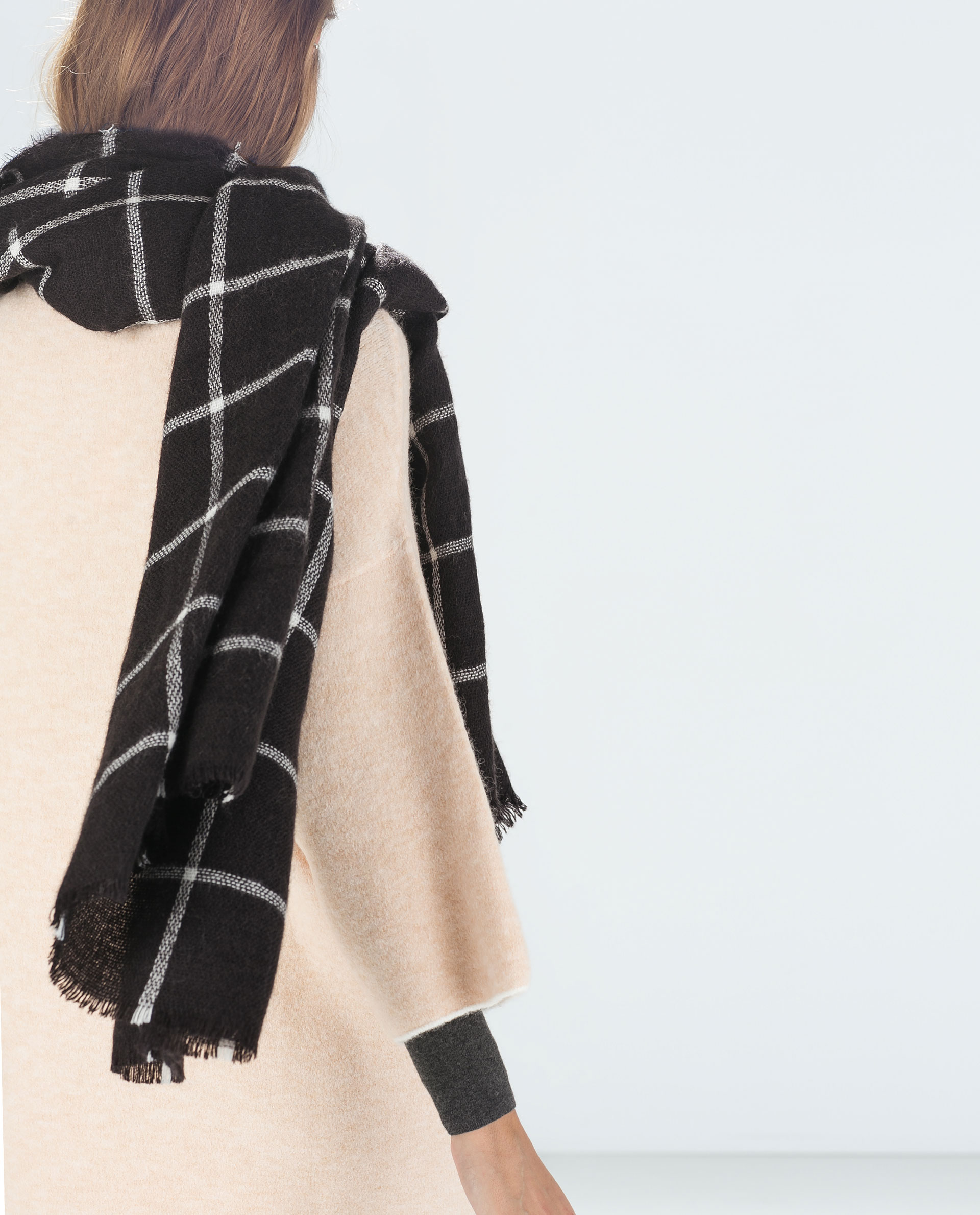 Checked Scarf Accessories Woman Zara United States