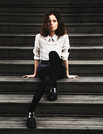 shirt lace spitze blouse lookbook blogger