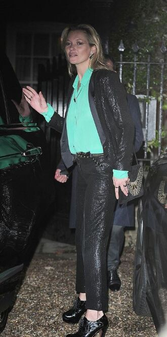 jacket blazer kate moss pants shirt blouse fall outfits sequins