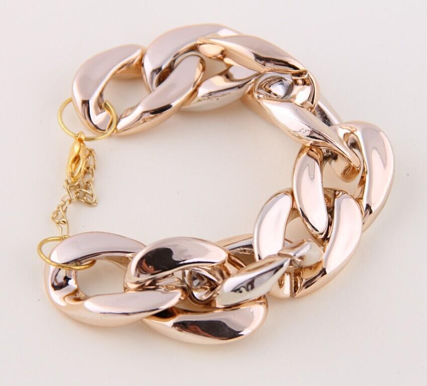 B17 all match coarse chain gold bracelet silver bangle bracelets & bangles women bracelet free shipping-inChain & Link Bracelets from Jewelry on Aliexpress.com | Alibaba Group