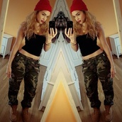 jeans,swag,beanie,camouflage,shoes,hat,tank top