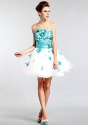dress,prom dress,floral,flowers,blue dress,lace dress,lace prom dress,prom shoes,ball gown dress,evening dress,high heels,platform shoes,glitter,black heels,starry night
