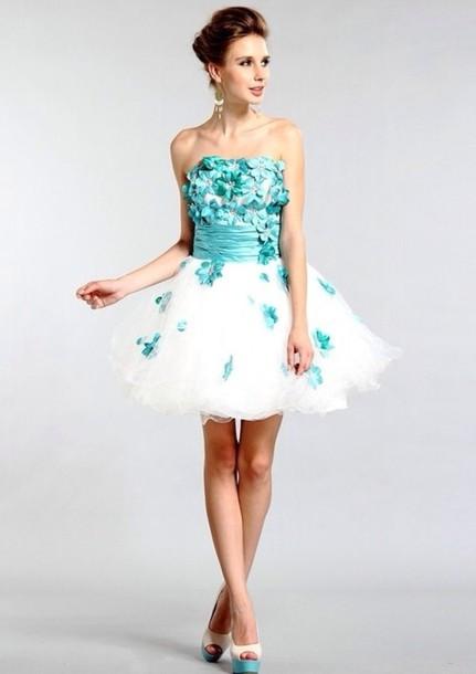 dress, prom dress, prom dress, floral, flowers, blue dress, lace ...