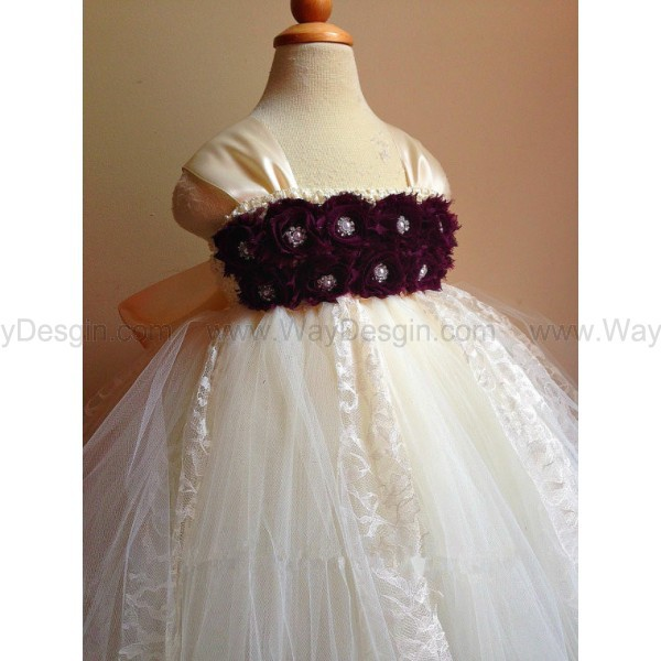 flower girl dress dress ivory dress
