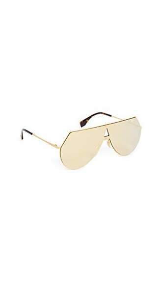 sunglasses aviator sunglasses gold yellow brown