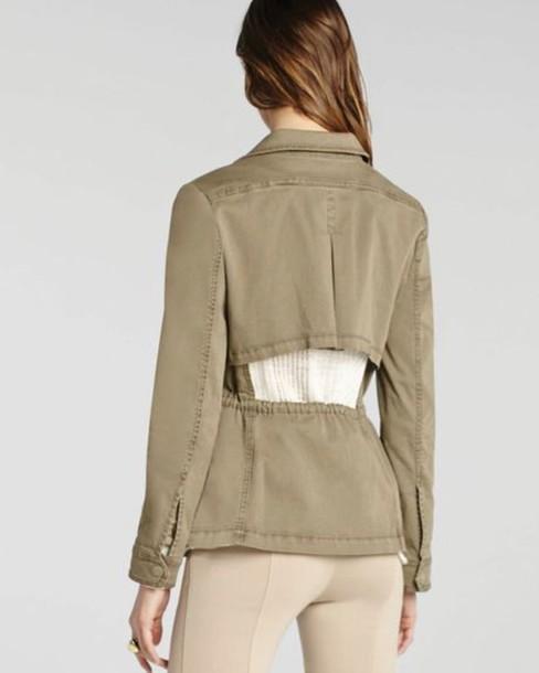 jacket cargo pants safari green open back
