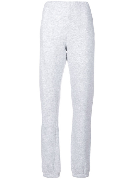 pants track pants women cotton grey
