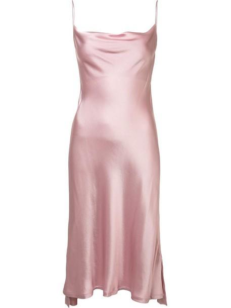 9f766533eb21 dress, slip dress, women, draped, purple, pink - Wheretoget