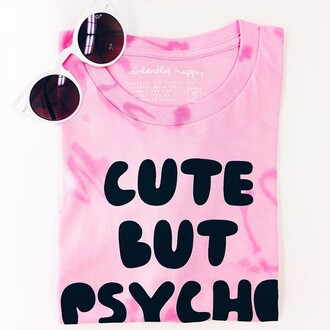 top crop tops nyct clothing violently happy graphic crop tops cute but psycho